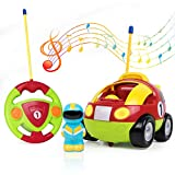 Tonor TN218RE RC Cartoon Race Toy Light Music, Remote Control Cars Birthday Present Kids Toddlers, Red