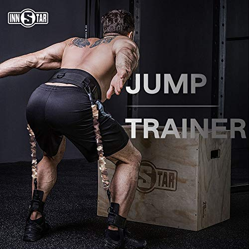 INNSTAR Vertical Jump Trainer Leg Strength Resistance Bands Set for Basketball Triple Jump Football Volleyball Training Provide of Customized Services (Best Vertical Jump Program)