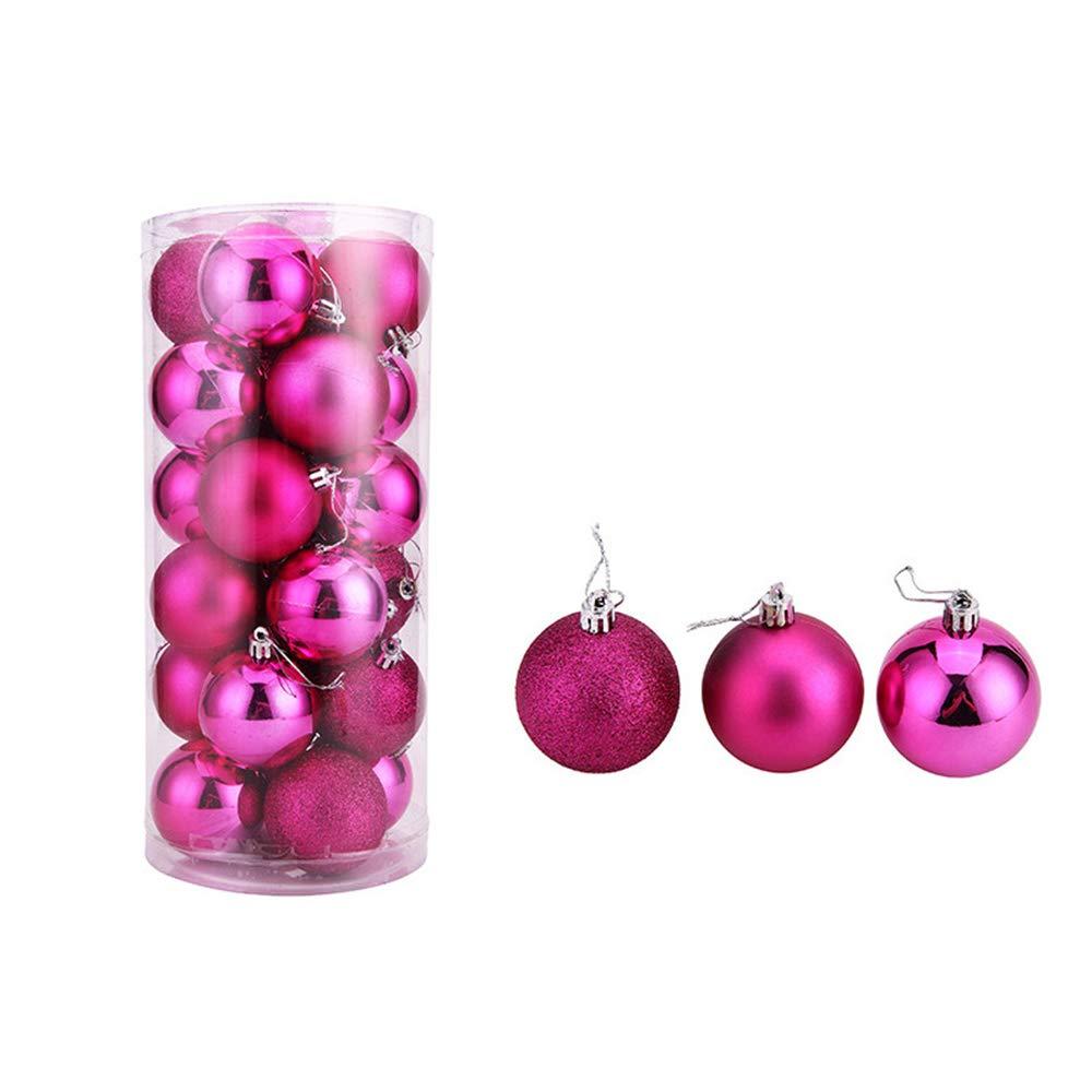 24Piezas Bolas de Navidad de 4cm Azul Adornos Navide/ños para Arbol Decoraci/ón de Bolas de Navidad Inastillable Pl/ástico 24pcs 4cm Azul