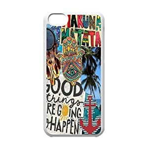 Custom Colorful Case for Iphone 5C, Good Vibes Cover Case - HL-504384