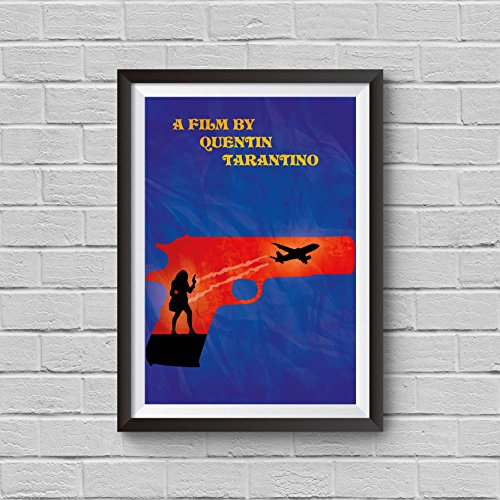 Jackie Brown Minimalist Poster Quentin Tarantino Alternative Movie Print Home Decor Illustration Cult Classic Cinema Artwork Wall Art Hanging Cool (Cult Classics Presents)
