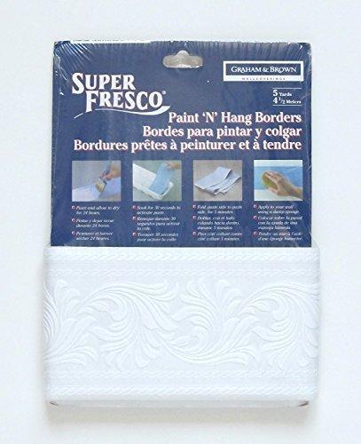 Hang Prepasted Wall Border - Superfresco Paintable Wallpaper Border - Scroll