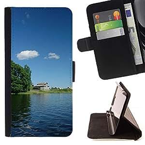 For HTC Desire 820 Case , Naturaleza- la tarjeta de Crédito Slots PU Funda de cuero Monedero caso cubierta de piel