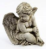 Sitting Angel Concrete Garden Statue