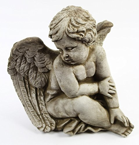 - Sitting Angel Concrete Garden Statue
