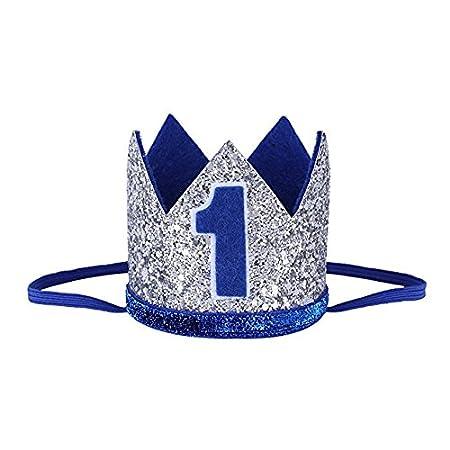 Leayao - Diadema para niños, diseño de corona talla única Silver and Blue