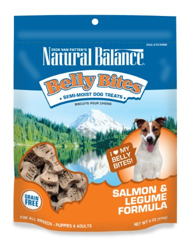 Dick Van Patten's Natural Balance Belly Bites Salmon and Legume Semi-Moist Treats, 6-Ounce, My Pet Supplies
