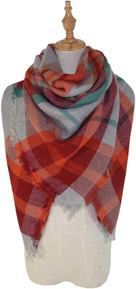 Excellent Womens Fall Winter Scarf Classical Tassel Tartan Plaid Scarf Warm Diffused Kerchief Wrap Shawl Scarves