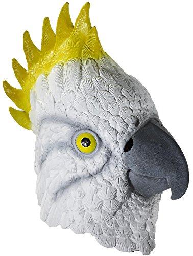 [Adult Latex Parrot Mask Costume Accessory] (Yellow Beak Costume)
