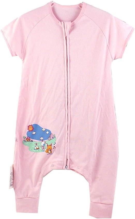 Eastery Saco De Dormir para Bebés Pijamas para Niños Manga Corta Estilo Simple con Pies 100