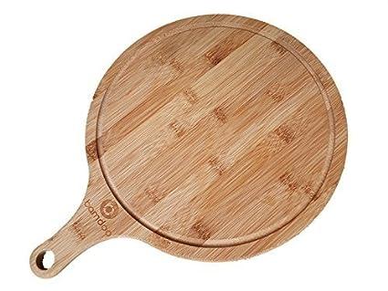 Tabla de pizza bambú - aproximadamente ø 30cm - Elegante Plato para pizza / Tablero de
