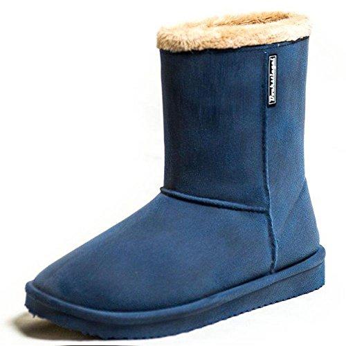 Bock Smeltkroes Dames Rubberen Laarzen Vanessa Hot-feed In De Boot Redesign Donkerblauw