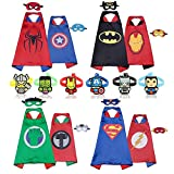 RioRand Comics Cartoon Dress Up Double-sided Costumes 4pcs Capes 8 pcs Masks 6pcs Wristbands