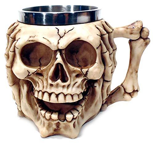 Caneca Chopp Cerveja Crazy Skull Cranio Caveira