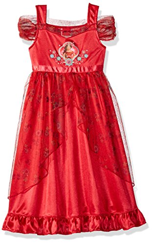 Disney Big Girls' Fantasy Nightgowns, Elena Spanish Red, 8 -