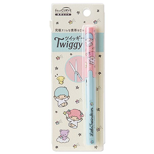 Famous Music Stars Costumes (Sanrio Little Twin Stars slim mobile scissors fit cut curve Twiggy From Japan New)
