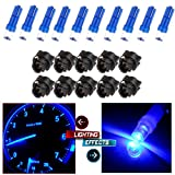 01 silverado cluster - CCIYU 10 Pack T5 Instrument Cluster Panel Gauge Dash LED Bulb light 17 57 37 73 74 Blue +10x Twist Sockets 17 37 70 Instrument Panel Cluster Plug Lamp Dash Light Bulb T5