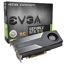 EVGA GeForce GTX 970 4GB SC GAMING, Silent Cooling Graphics Card 04G-P4-1972-KR