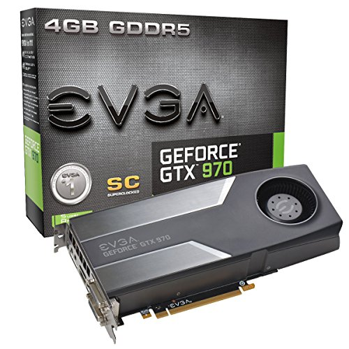 EVGA GeForce GTX 970 4GB SC GAMING, Silent Cooling Graphics Card 04G-P4-1972-KR