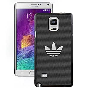 NEW DIY Unique Designed Samsung Galaxy Note 4 Phone Case For White Adidas Logo With Stripe Background Phone Case Cover by mcsharks