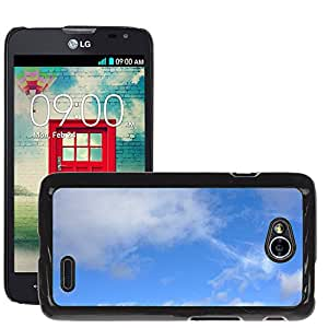 Etui Housse Coque de Protection Cover Rigide pour // M00153049 Nube Cielo Nublado Nubosidad // LG Optimus L70 MS323