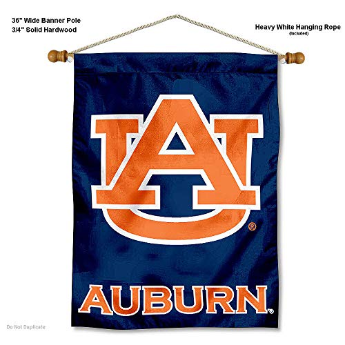 - College Flags and Banners Co. Auburn Tigers Banner with Hanging Pole