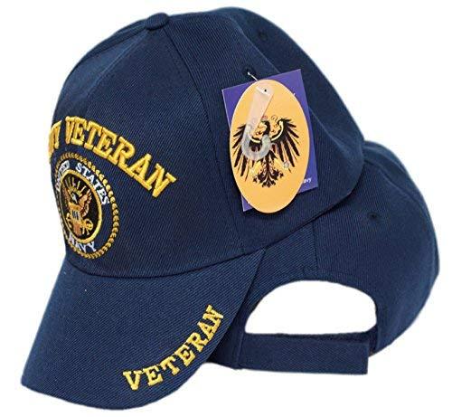 mws U.S Navy Veteran Vet Shadow Embroidered Ball Blue Cap Shadow 3D Hat U.S. Navy 4-02-B