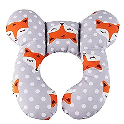 KAKIBLIN Baby's Headrest and Neck Support Pillow for Pushchair,Car Seat,Travel