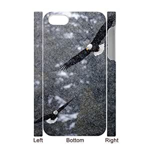 Bald Eagle Customized 3D Cover Case for Iphone 4,4S,custom phone case ygtg579640