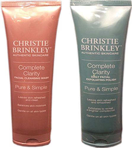 Christie Brinkley Complete Clarity Facial Exfoliating Polish & Facial Cleansing Wash-2 Piece Set