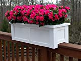 36 inch Hartford Rail Top Planter for a 2X4 Railing