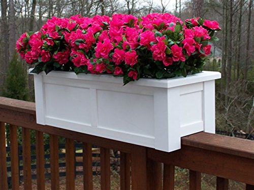 36 inch Hartford Rail Top Planter for a 2X6 Railing by Windowbox