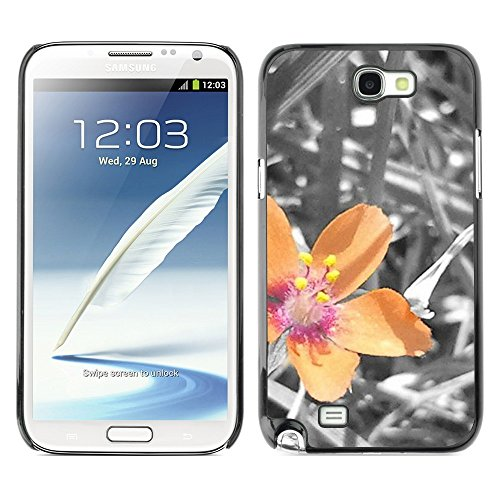 Soft Silicone Rubber Case Hard Cover Protective Accessory Compatible with SAMSUNG GALAXY NOTE 2 & N7100 - Plant Nature Forrest Flower 40