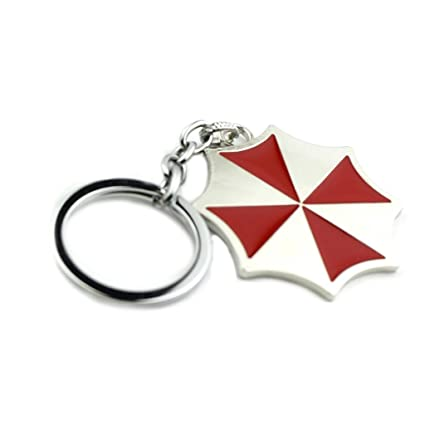 J&C Resident Evil Umbrella Corp. Logo Keychain with Gift Box