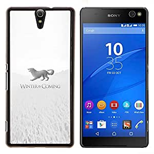 LECELL--Funda protectora / Cubierta / Piel For Sony Xperia C5 Ultra -- Winter Is Coming Stark --