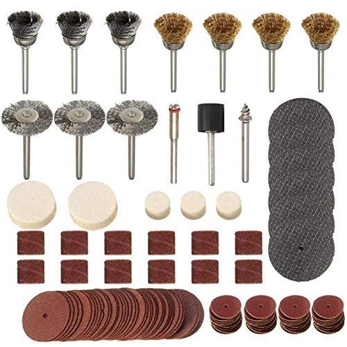 CHUNSHENN 研磨剤、ドレメル1/8インチ研削、研磨工具のための161pcs回転工具アクセサリビットセット 研磨用 研磨工具