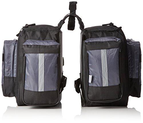 M-Wave Gepäcktasche 3-fach Traveller, schwarz/ grau, 62 l