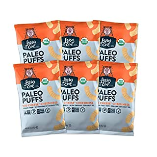 "LesserEvil Grain Free Paleo Puffs, ""No Cheese"" Cheesiness, 5 Ounce, 6 Count (Packaging may vary)"