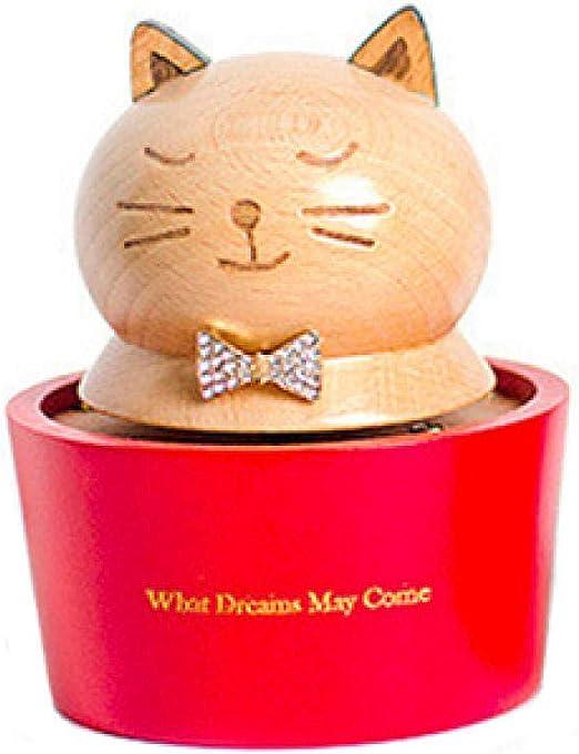 LJXLXY Decoración Manualidades Gato Animal Madera Spinning Caja de ...