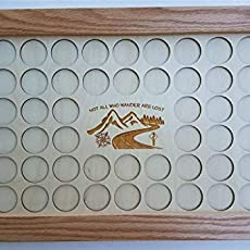 11x17Livin Life Behind Bars Motorcycle Poker Chip Display Case with Oak Frame and Birch Mat