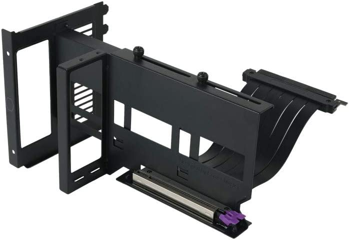 Compatible with All Standard ATX Chassis Cooler Master MasterAccessory Vertical Graphics Card Holder Kit Version 2 with Premium Riser Cable PCI-E 3.0 x16-165mm