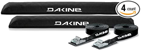 DaKine Long Aero Rack Pads With 12u0027 Tie Down Straps   Black