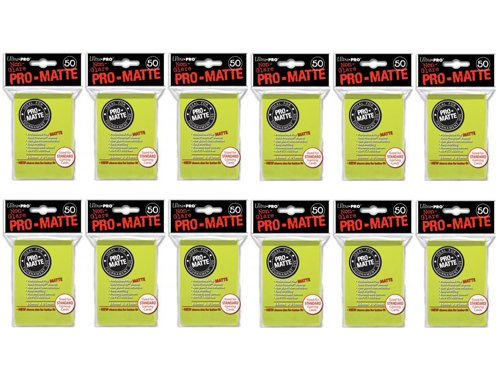 600 Ultra Pro Bright giallo PRO-MATTE Deck Protectors Sleeves Standard MTG Colores by Ultra Pro