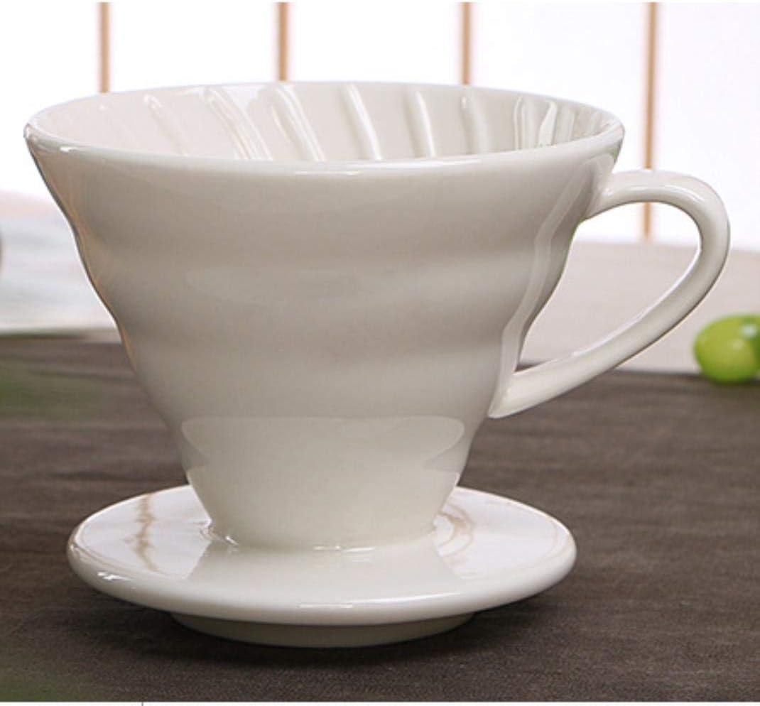 OLKD Taza de Filtro de Goteo del café Estilo V60 del café de Goteo ...