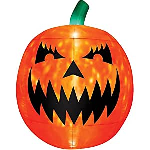 Scary Pumpkin Projection Airblown Halloween Decoration