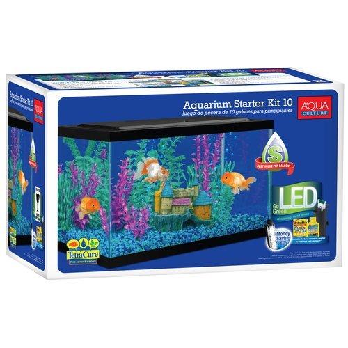 Aqua Culture 10 Gallon Aquarium Starter Kit with LED by Aquaculture
