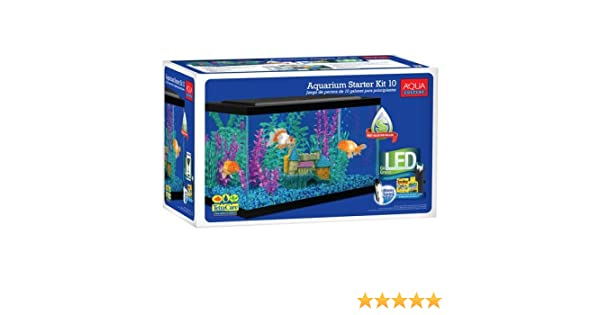 Amazon.com : Aqua Culture 10 Gallon Aquarium Starter Kit with LED : Pet Supplies