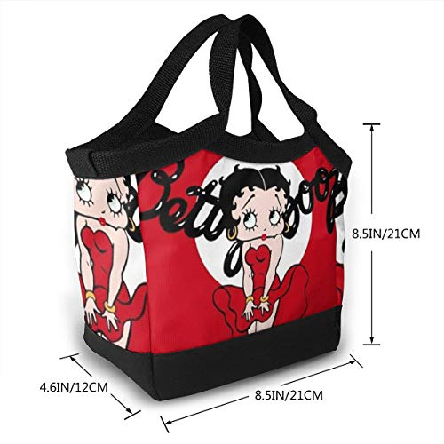 Betty Boop Gift Bag - SuraphonSuphunthuchatz Thick Reusable Insulated Thermal Betty Boop Lunch Bag for Adults Kids Work Outdoor Travel Picnic Gift