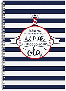 Grupo Erik Editores - Cuaderno Tapa Forrada A4 Amelie Marinero