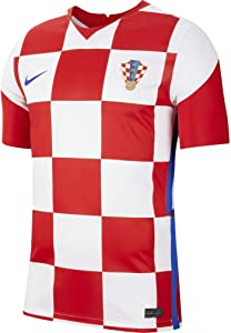Nike 2020-2021 Croatia Home Football Soccer T-Shirt Jersey